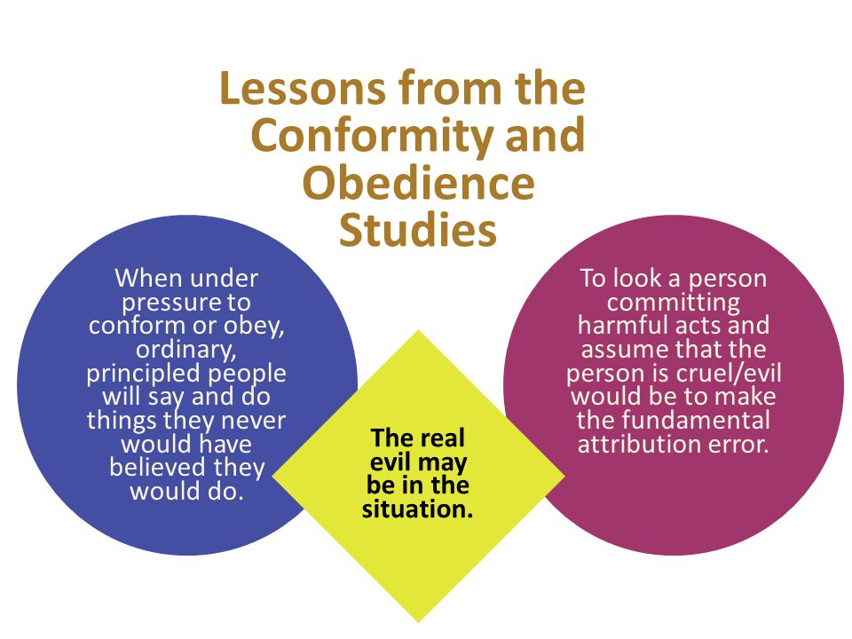 Lessons from the Conformity and Obedience Studies