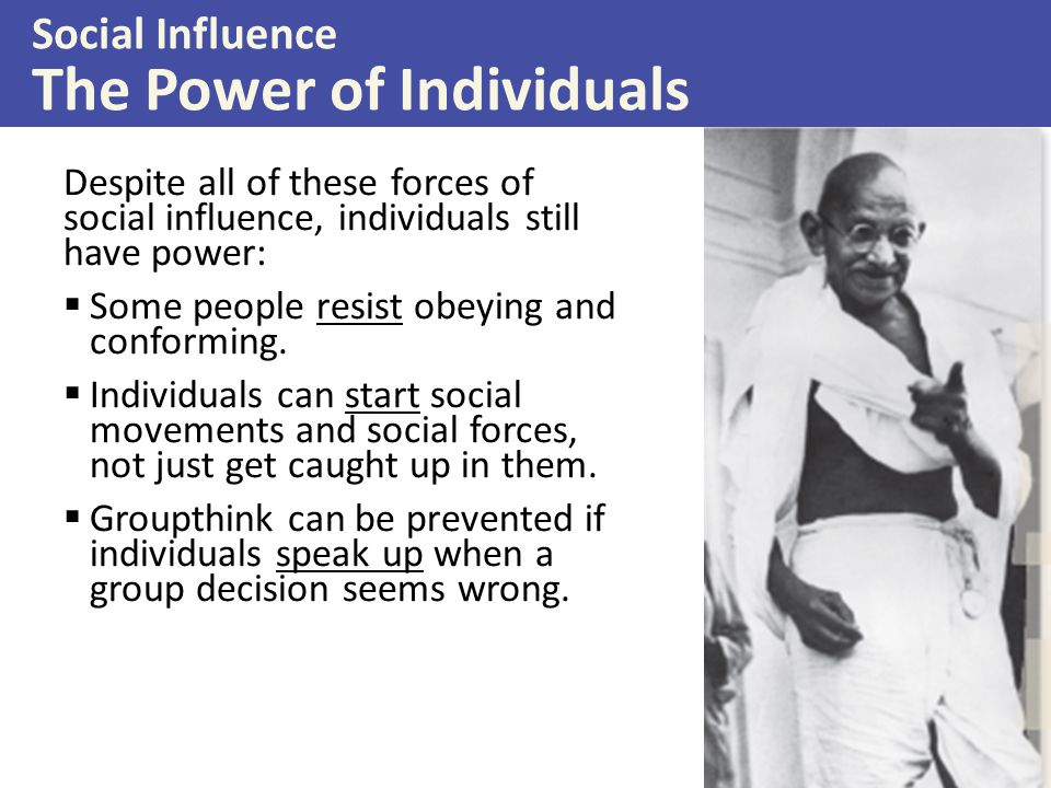 Social Influence The Power of Individuals