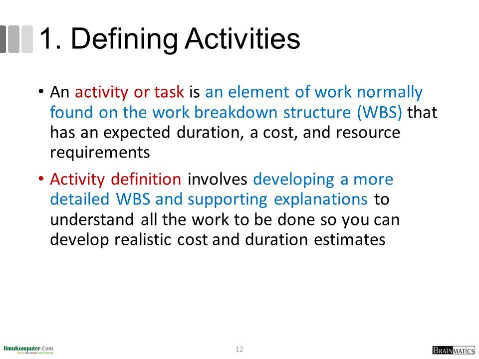 1. Defining Activities
