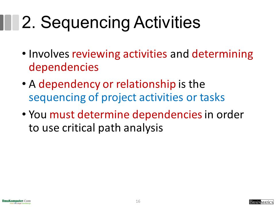 2. Sequencing Activities