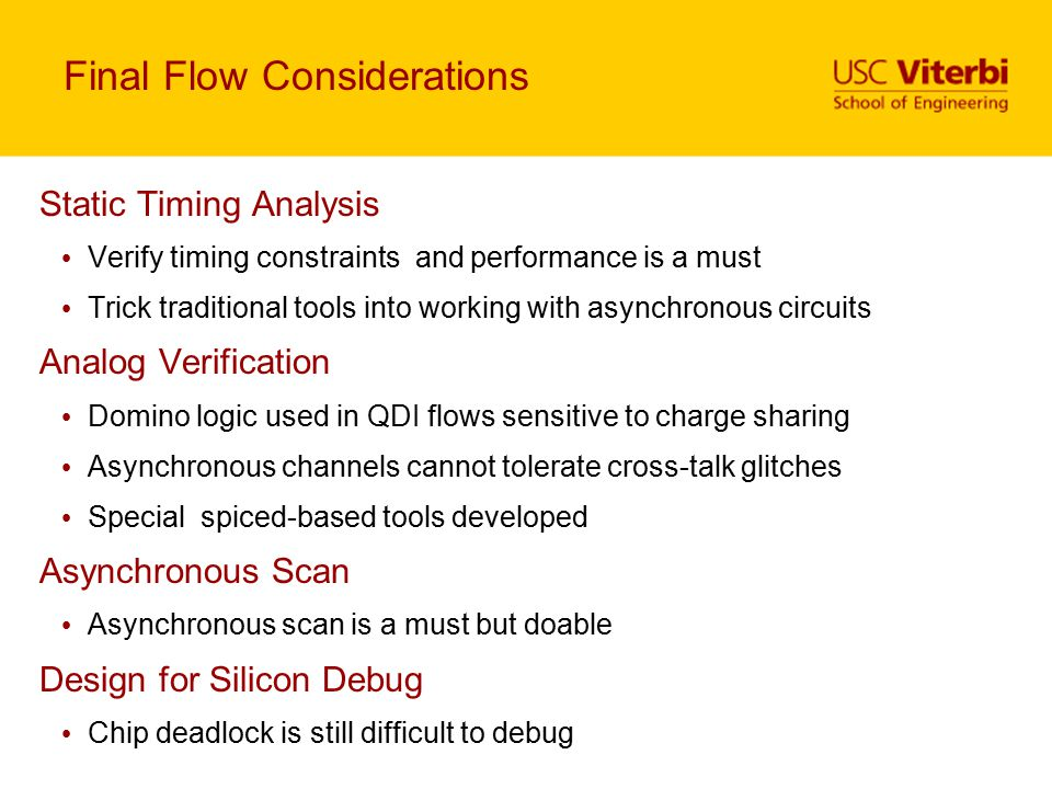 Final Flow Considerations