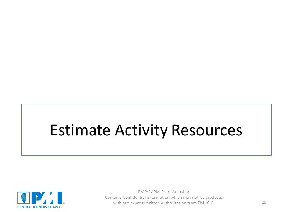 Estimate Activity Resources