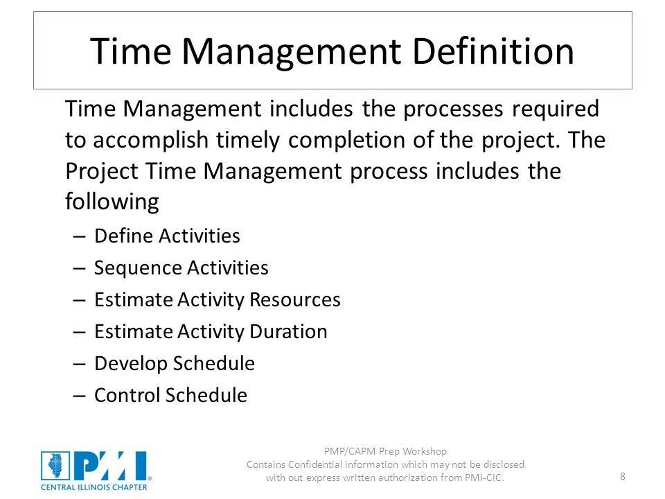 Time Management Definition