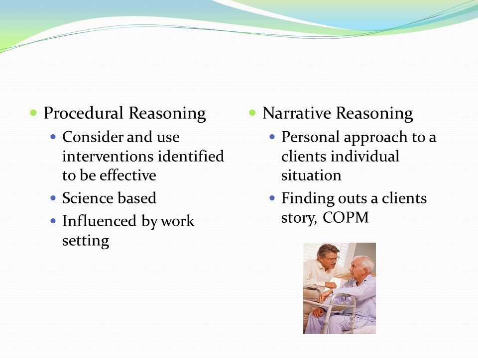 Procedural Reasoning Narrative Reasoning