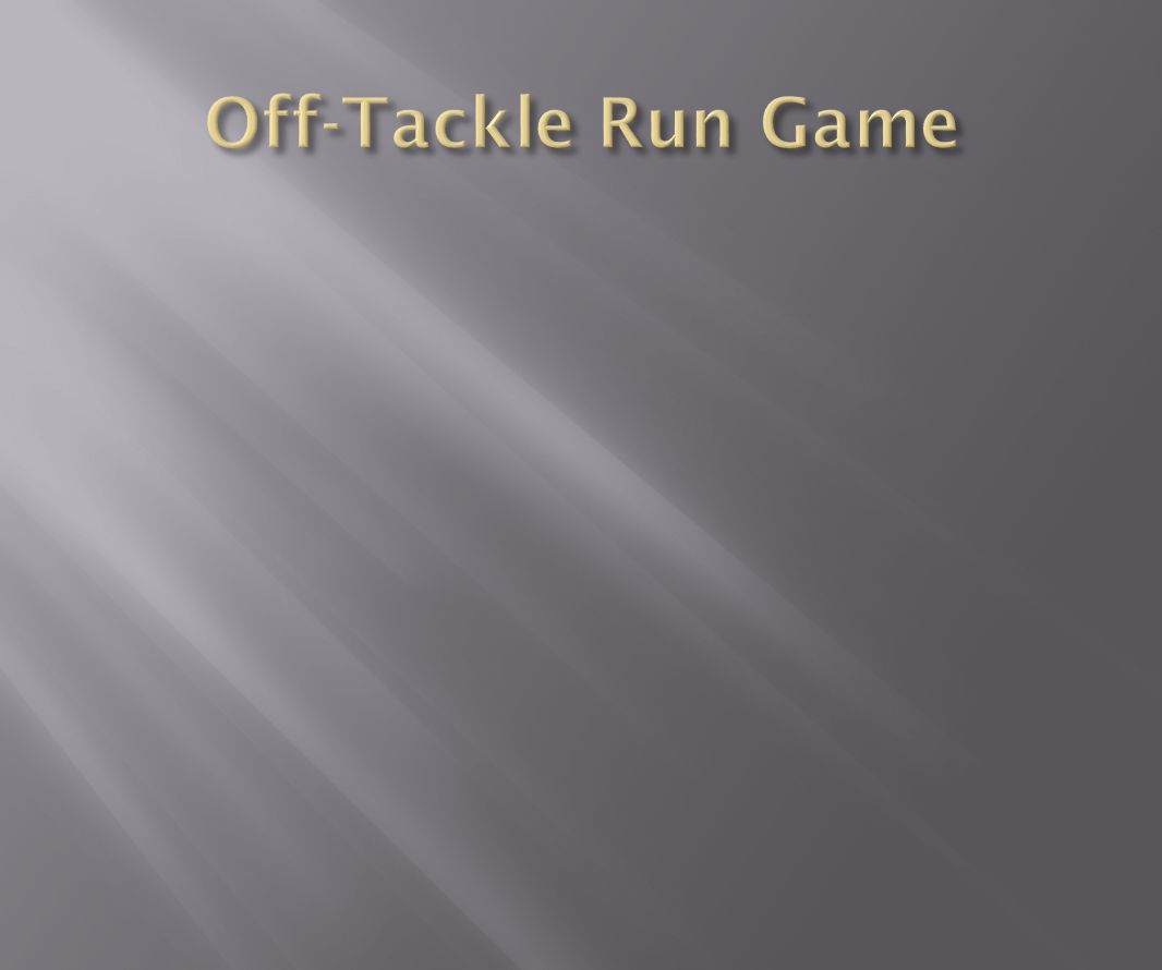 Off-Tackle Run Game