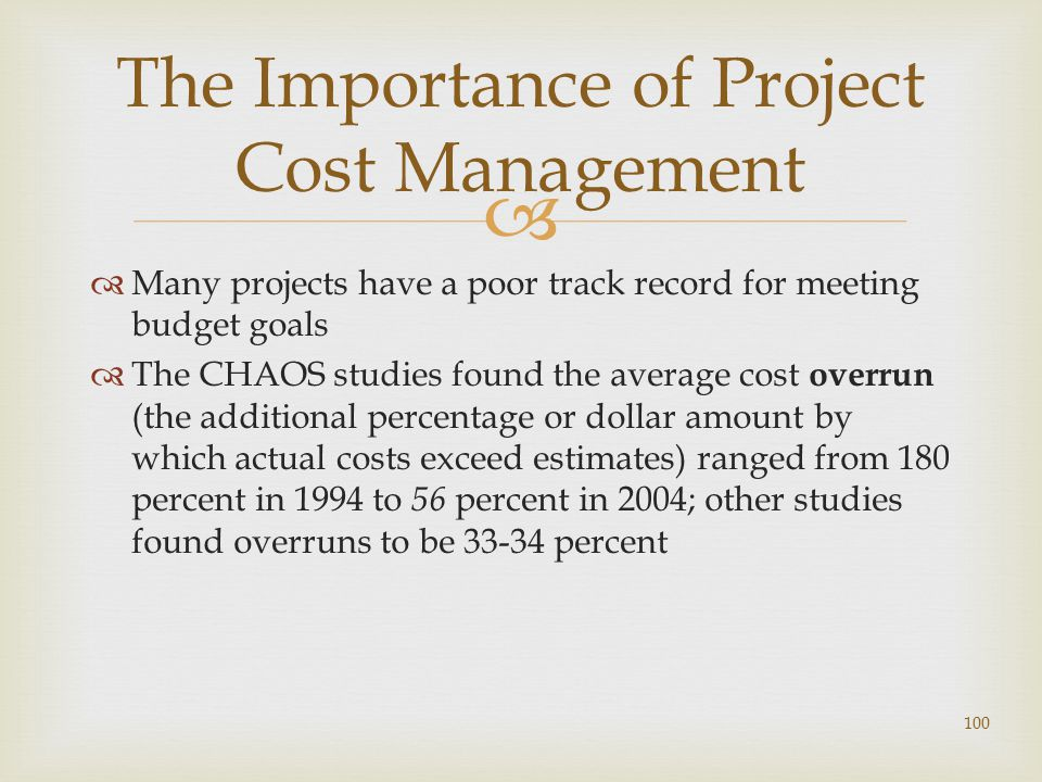 The Importance of Project Cost Management
