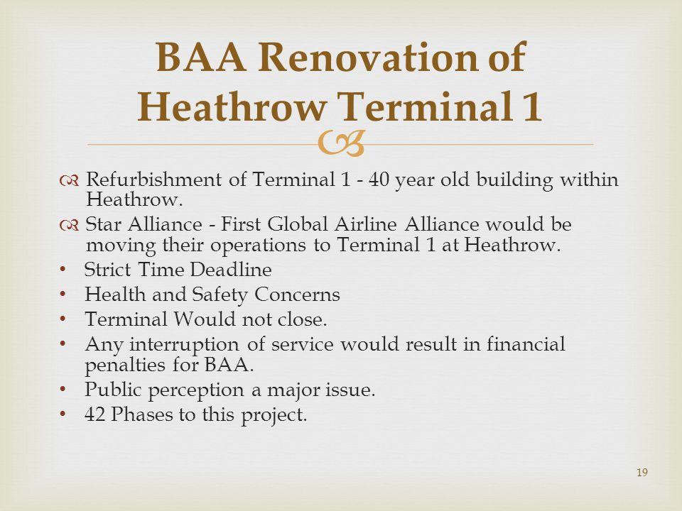 BAA Renovation of Heathrow Terminal 1
