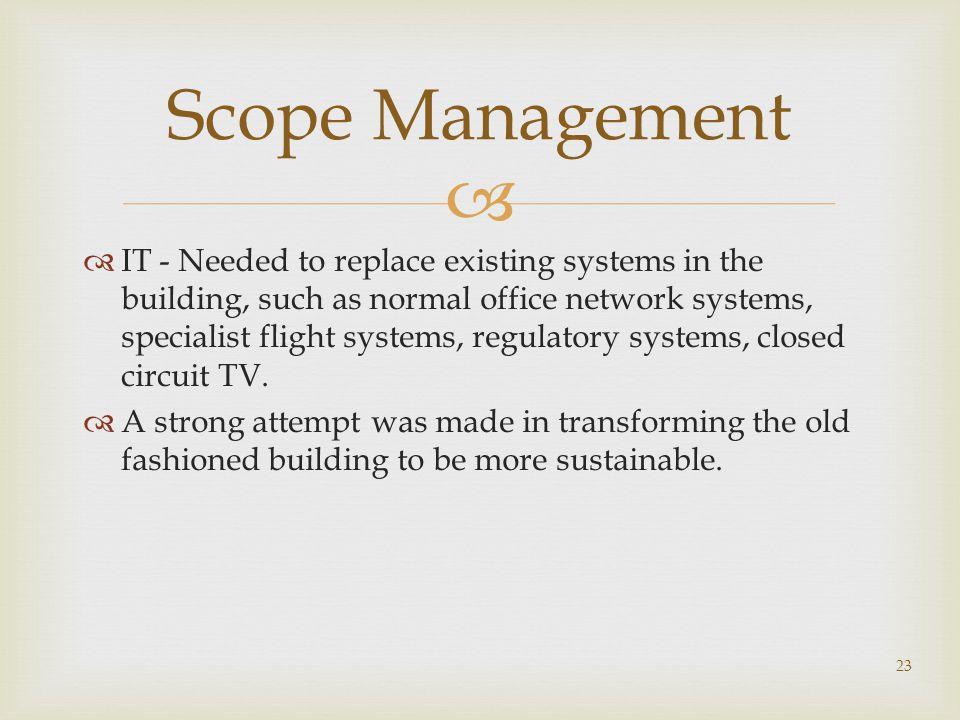 Scope Management