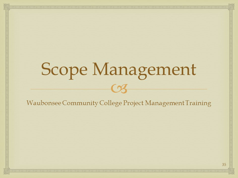 Waubonsee Community College Project Management Training