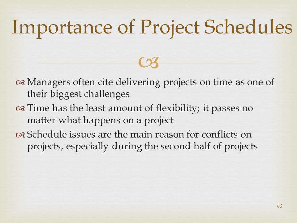 Importance of Project Schedules