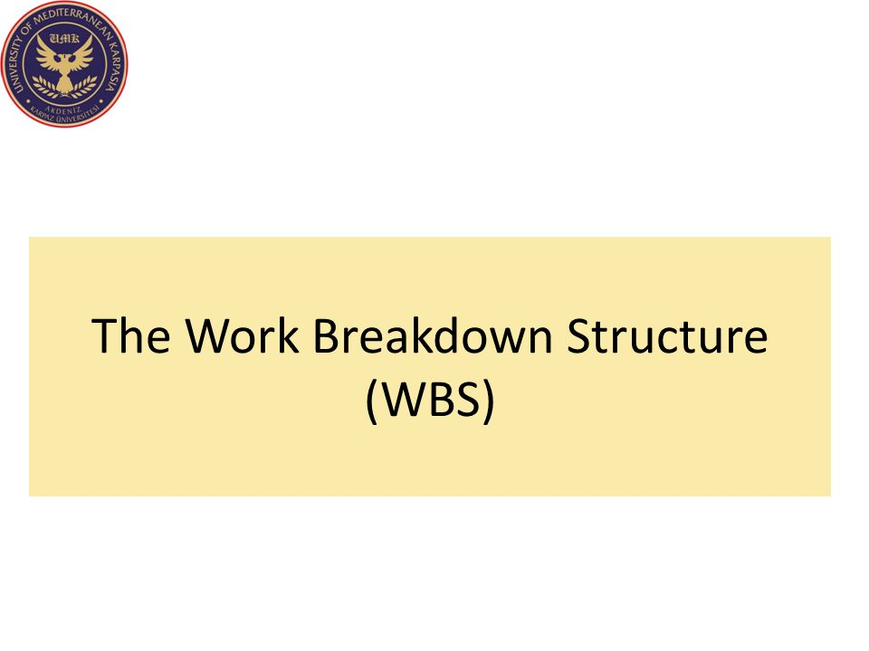 The Work Breakdown Structure (WBS)