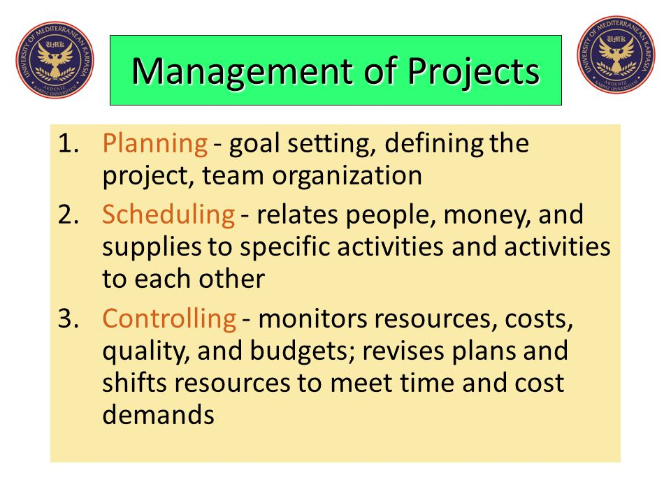 Management of Projects