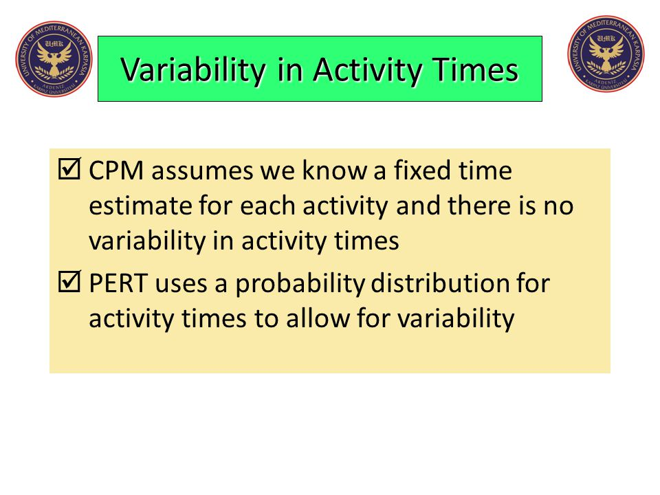 Variability in Activity Times