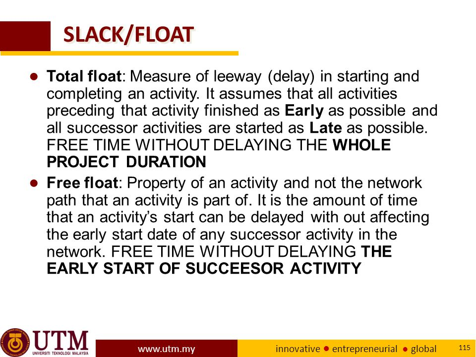 SLACK/FLOAT