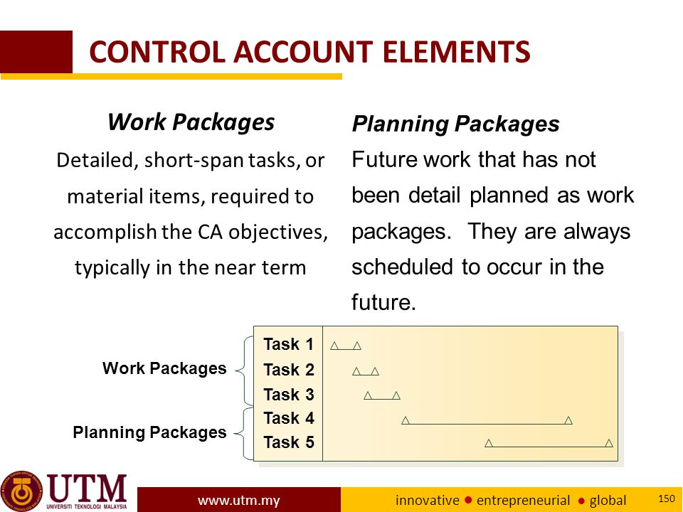 CONTROL ACCOUNT ELEMENTS