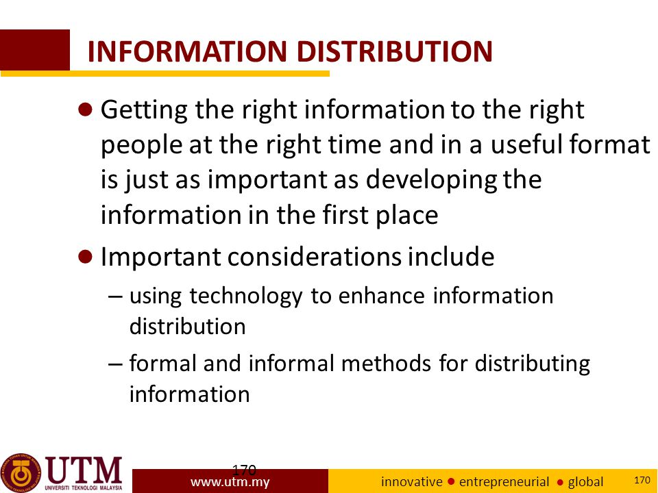 INFORMATION DISTRIBUTION