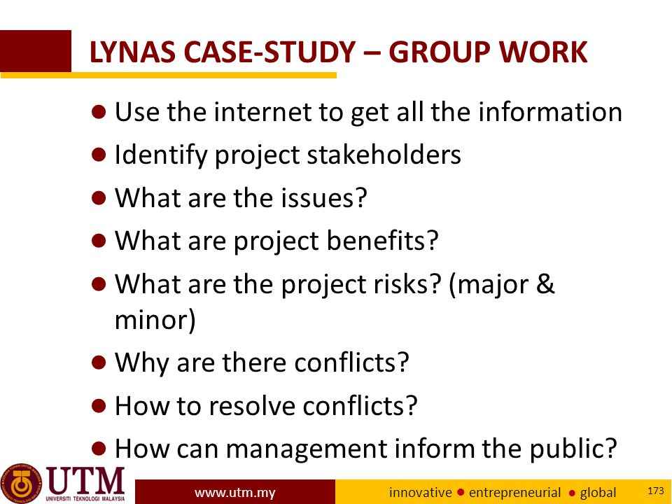 LYNAS CASE-STUDY – GROUP WORK
