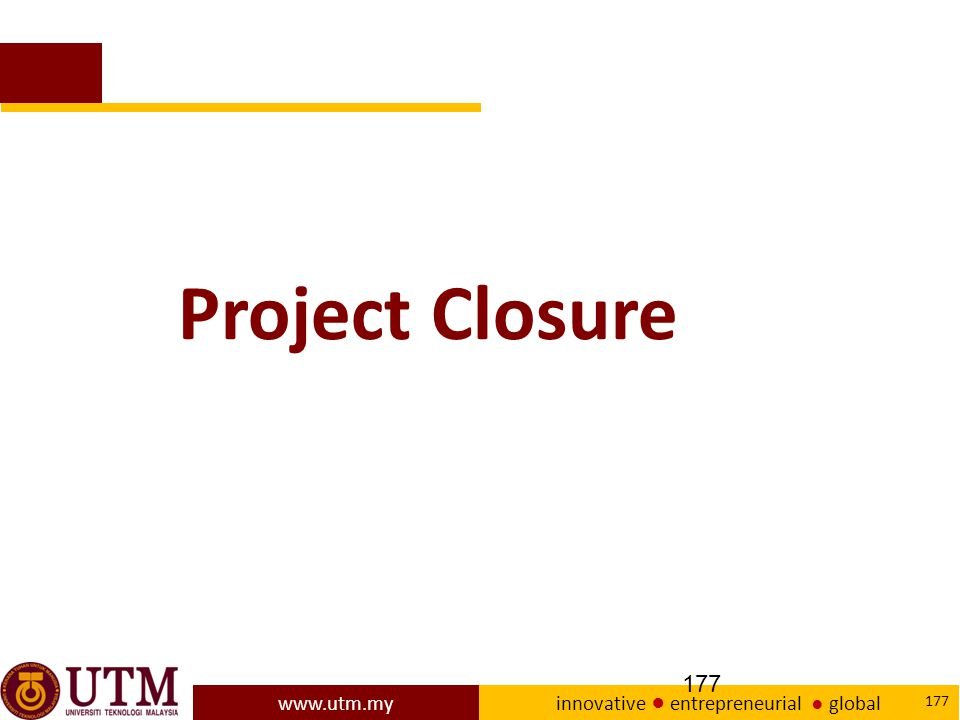 Project Closure