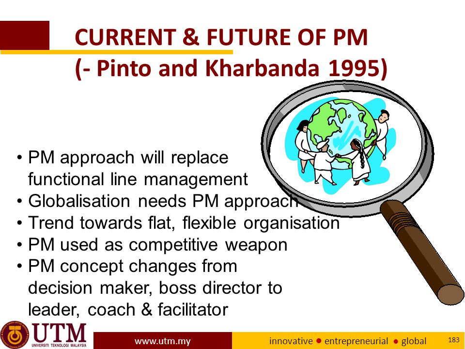 CURRENT & FUTURE OF PM (- Pinto and Kharbanda 1995)
