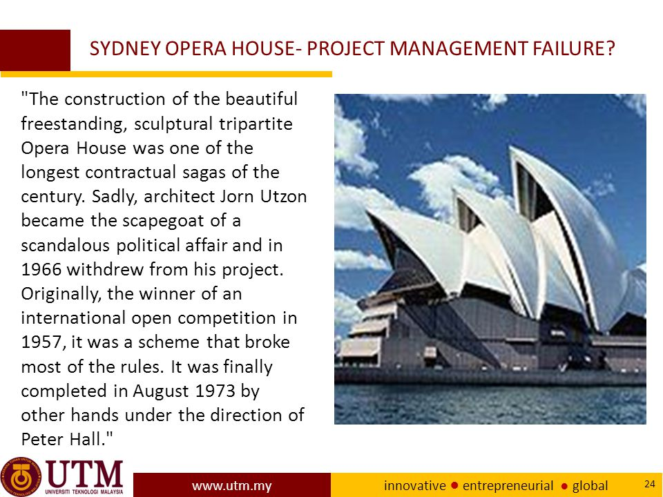 SYDNEY OPERA HOUSE- PROJECT MANAGEMENT FAILURE