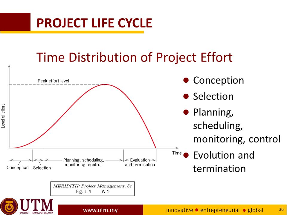 PROJECT LIFE CYCLE Time Distribution of Project Effort