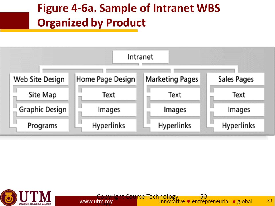 Figure 4-6a. Sample of Intranet WBS Organized by Product