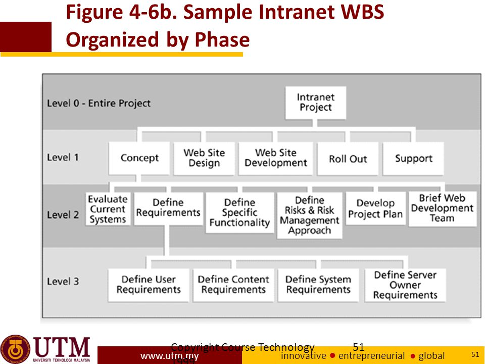 Figure 4-6b. Sample Intranet WBS Organized by Phase