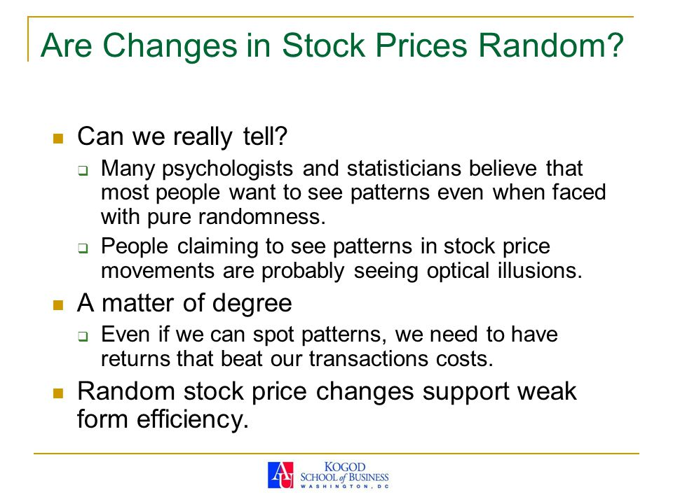 Are Changes in Stock Prices Random
