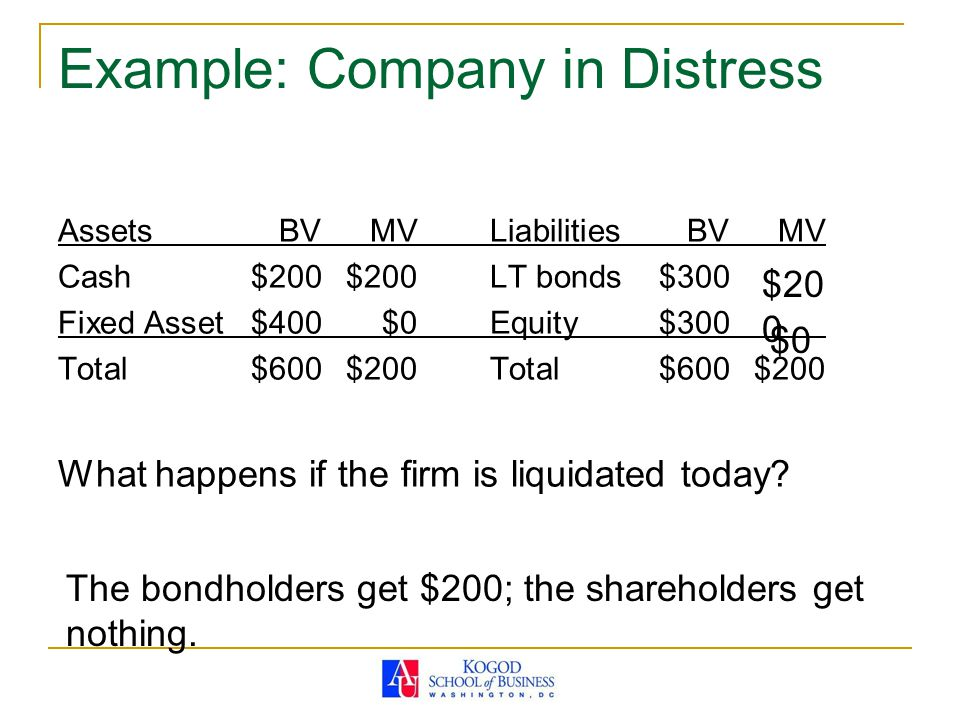 Example: Company in Distress