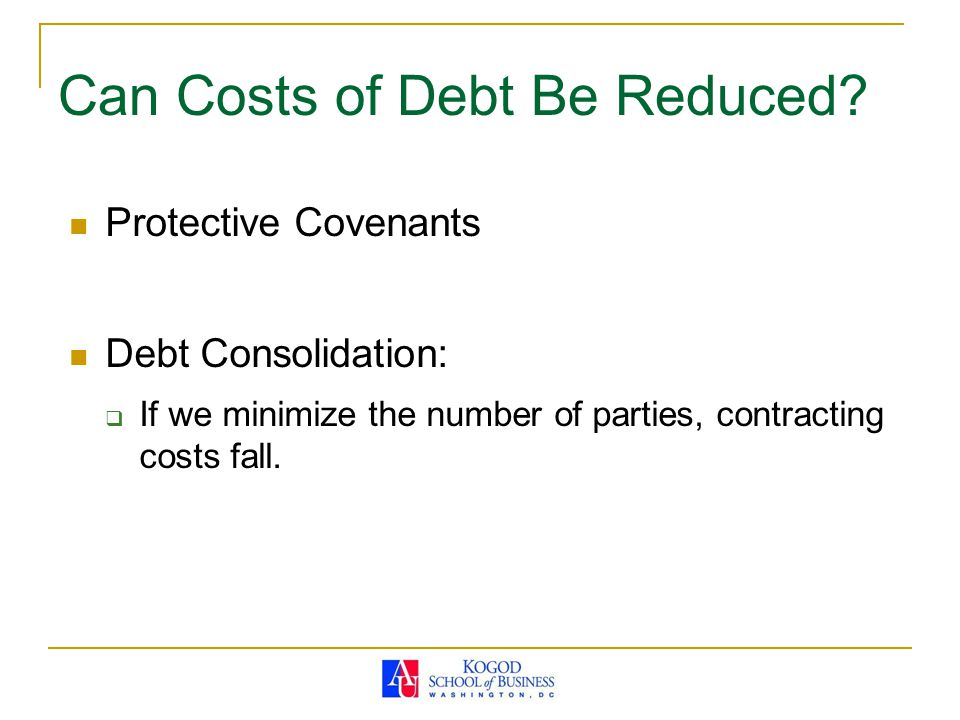 Can Costs of Debt Be Reduced