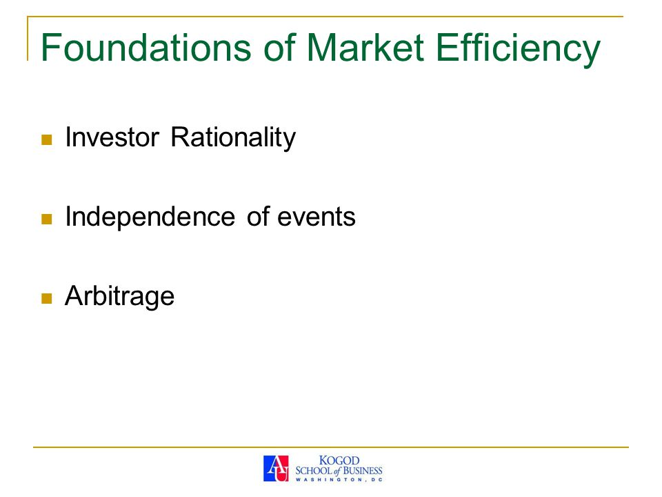 Foundations of Market Efficiency