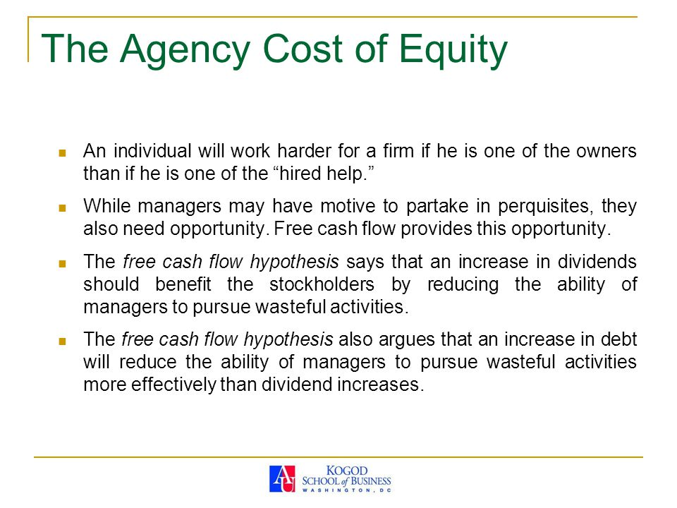 The Agency Cost of Equity