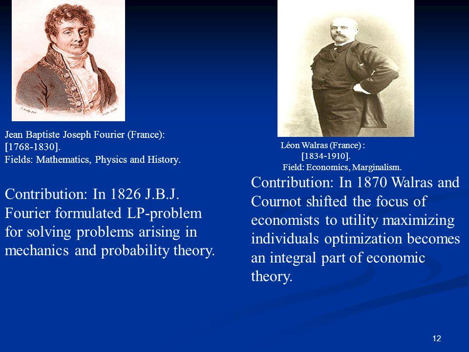 Jean Baptiste Joseph Fourier (France):