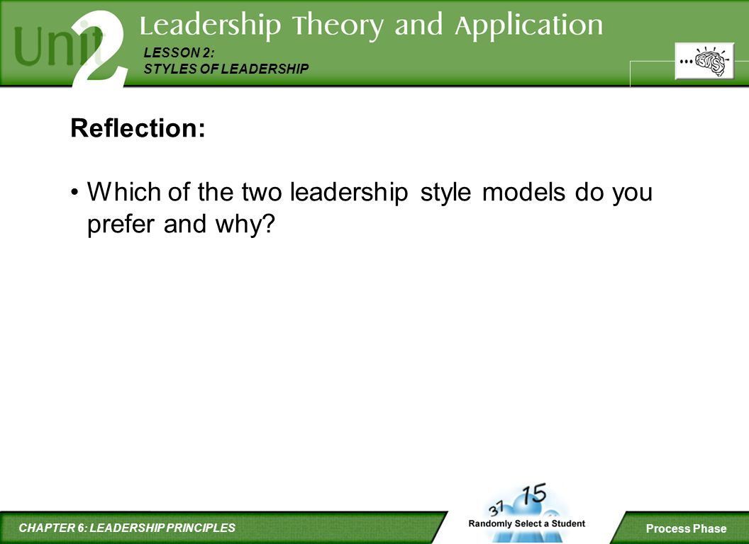 Reflection: Which of the two leadership style models do you prefer and why