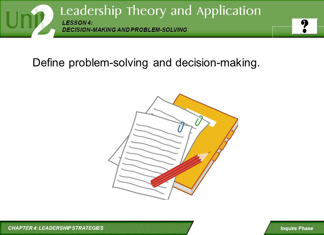 Define problem-solving and decision-making.