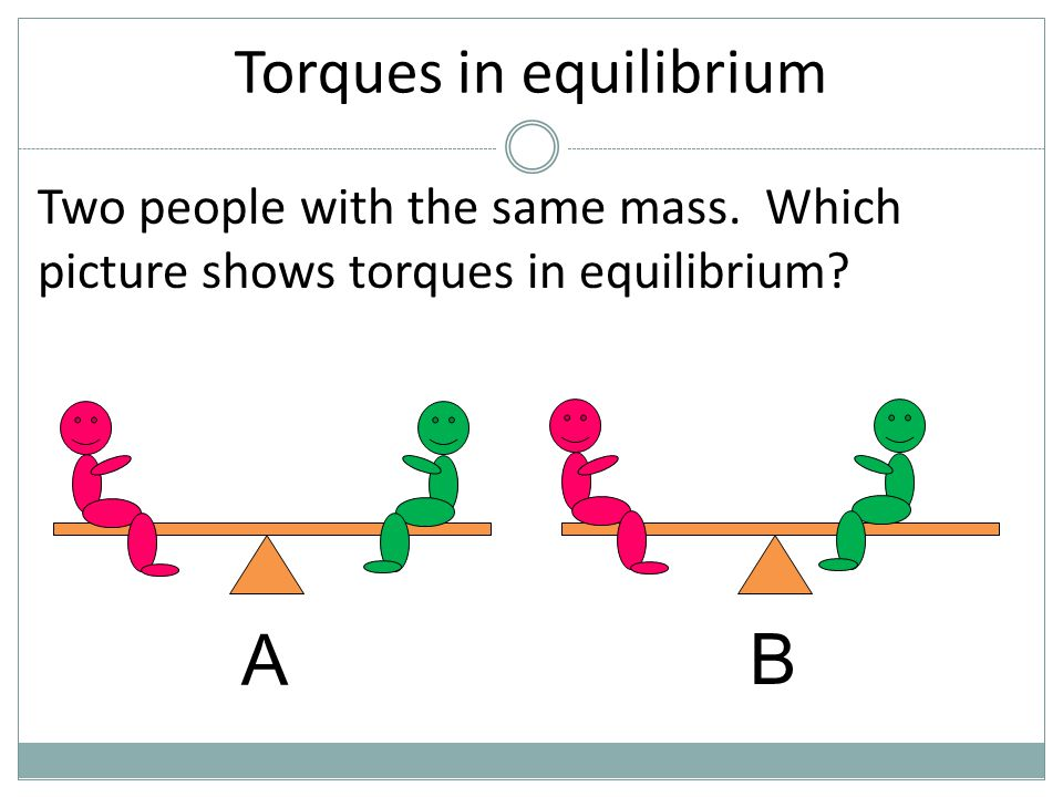 Torques in equilibrium