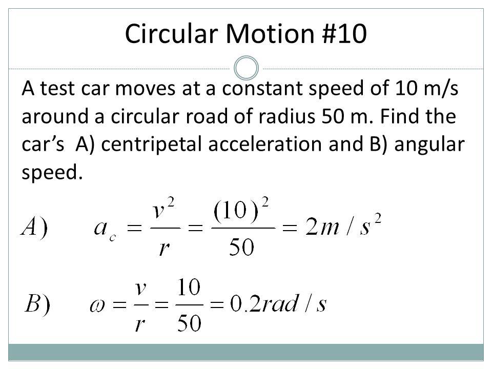 Circular Motion #10