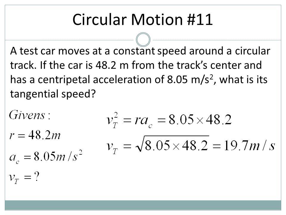 Circular Motion #11