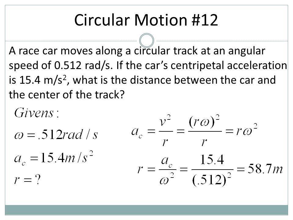 Circular Motion #12
