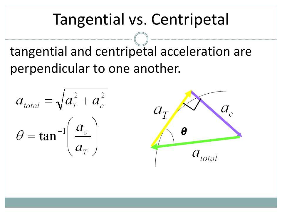 Tangential vs. Centripetal