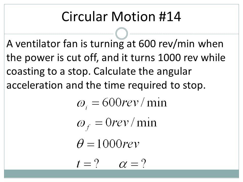 Circular Motion #14