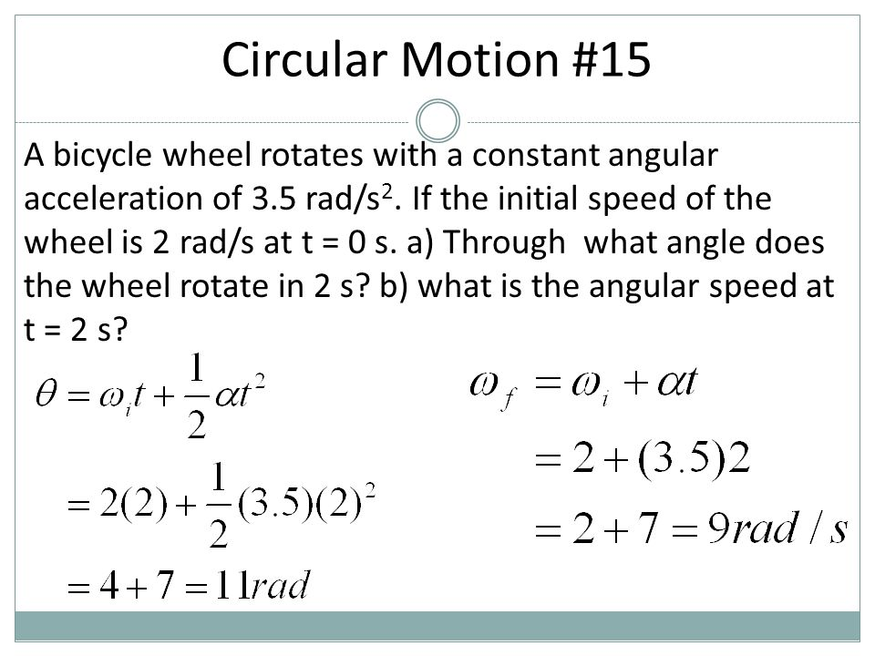 Circular Motion #15