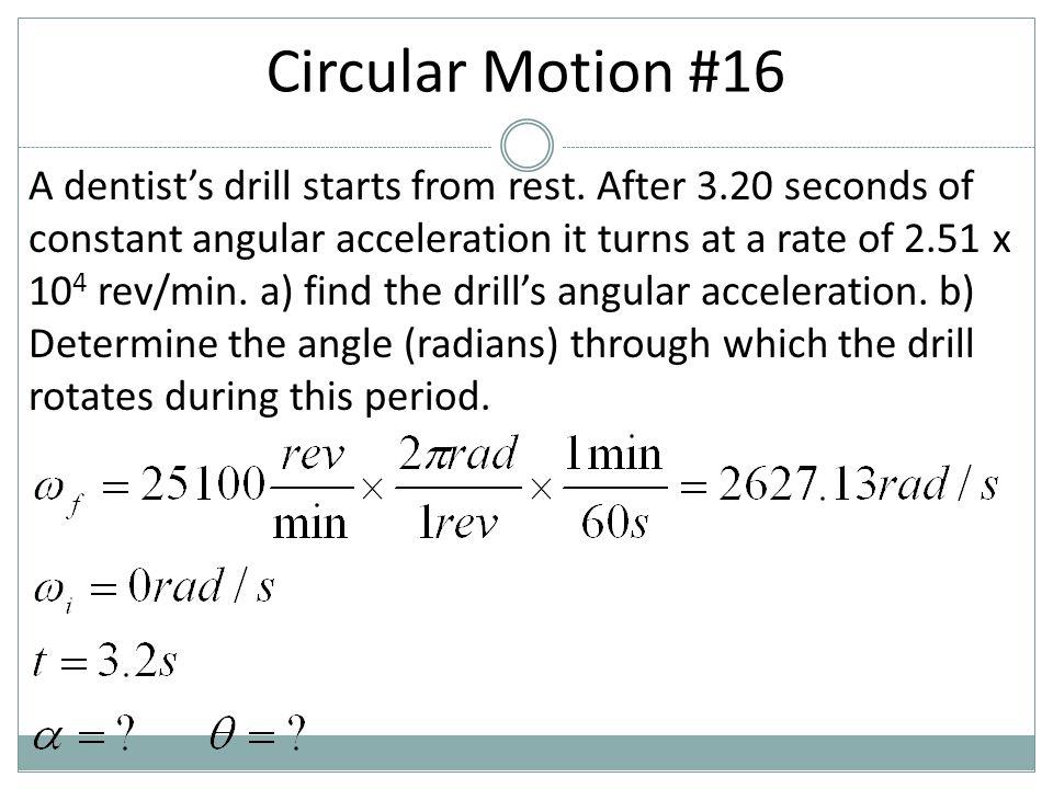 Circular Motion #16