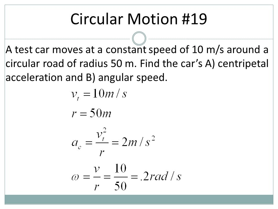 Circular Motion #19
