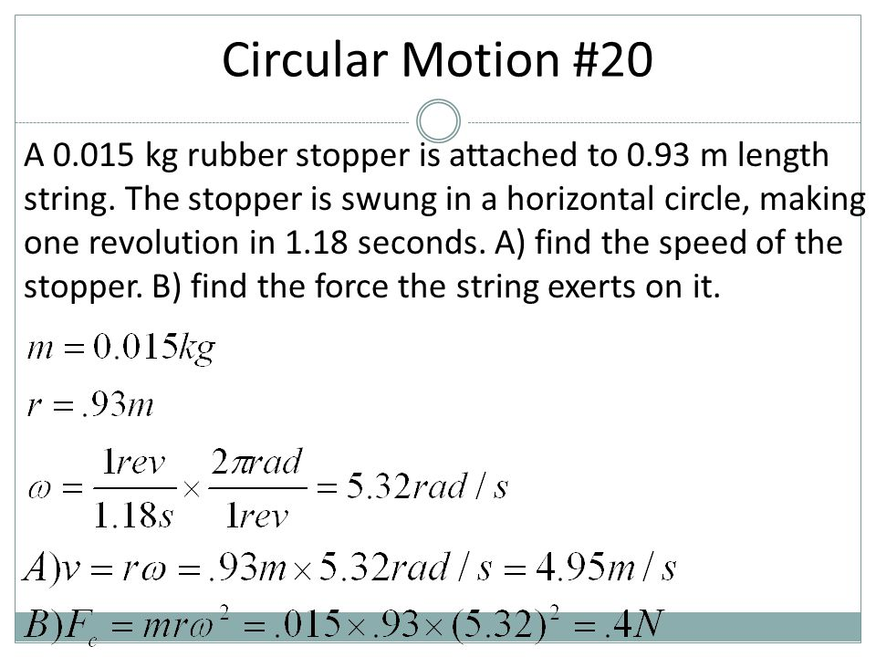 Circular Motion #20