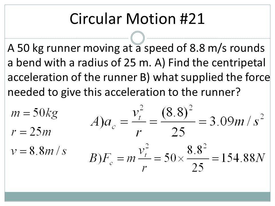Circular Motion #21