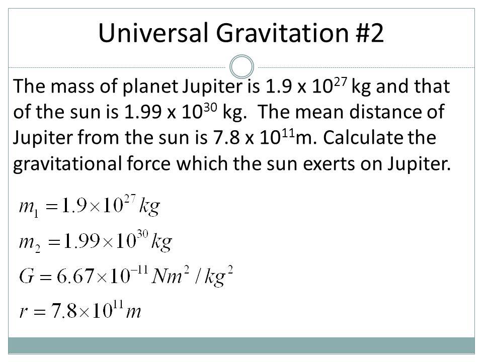 Universal Gravitation #2