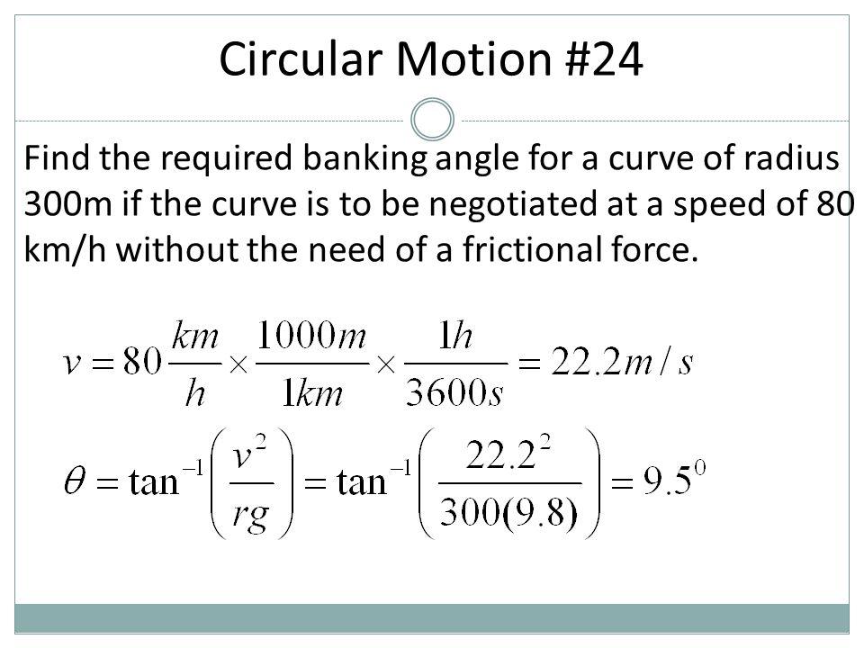 Circular Motion #24