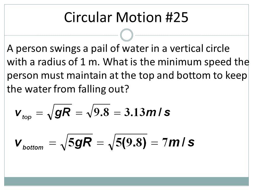 Circular Motion #25