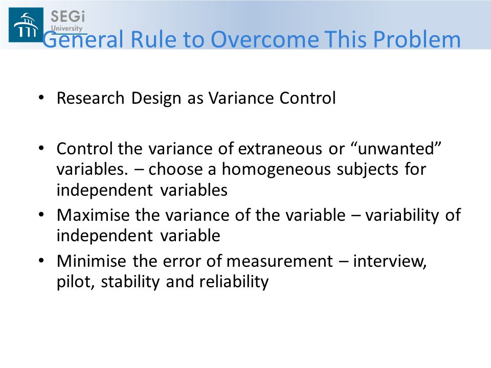 General Rule to Overcome This Problem
